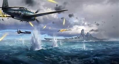 Battle Naval War Ii Ling Aviation Warship