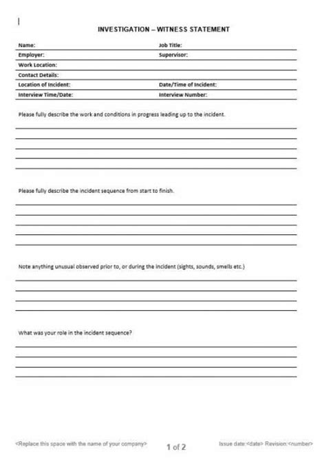 blank safe work method statement template neca safety