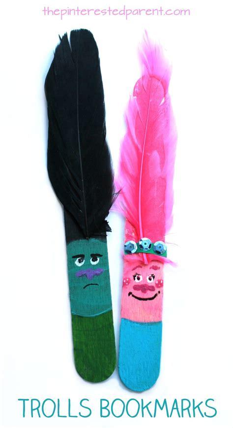 craft stick trolls bookmarks fun kids crafts ideas