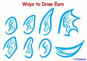 How to Draw Anime Ears, Draw Manga Ears, Step by Step ...
