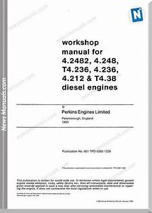 Perkins 4 236 Series Workshop Manual