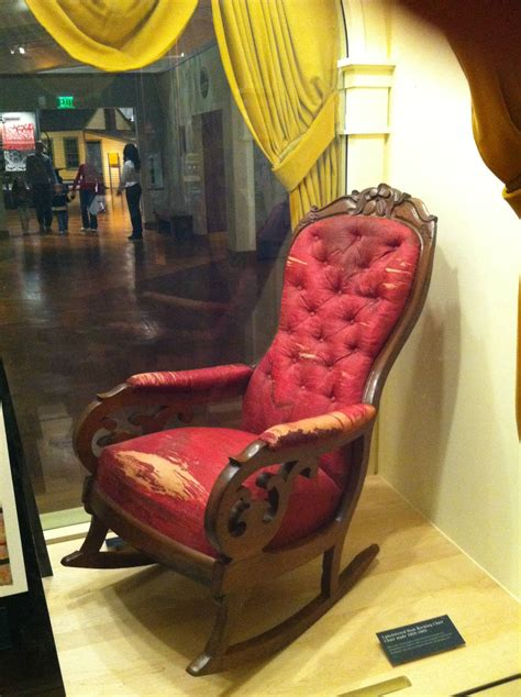 lincolns red rocking chair
