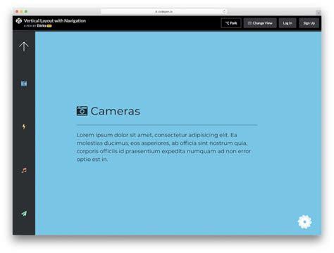 website menu templates  modern creative sites