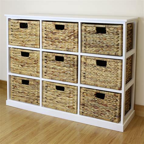 white  drawer basket storage side unit loungebathroom