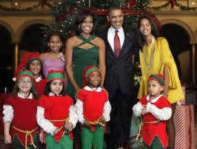 photo trick barack obama and his family celebrate with