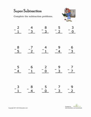 single digit addition and subtraction worksheet single digit subtraction worksheet education