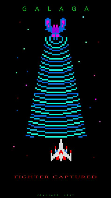 galaga fighter captured iphone wallpaper gaming iphone