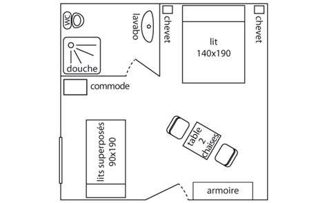 plan age 3 chambres location chambres avec piscine sarlat dordogne