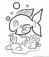 Coloring Pages Fish Tuna Template Coloringpages101 sketch template