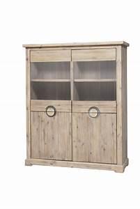 vitrine basse praha acacia blanchi With wonderful meuble a chaussures en bois massif 12 tete de lit en bois massif