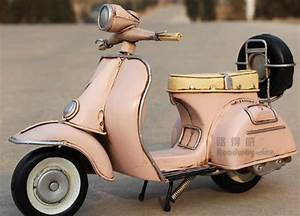 Medium Scale Pink Tinplate Vintage 1955 Vespa Model ...