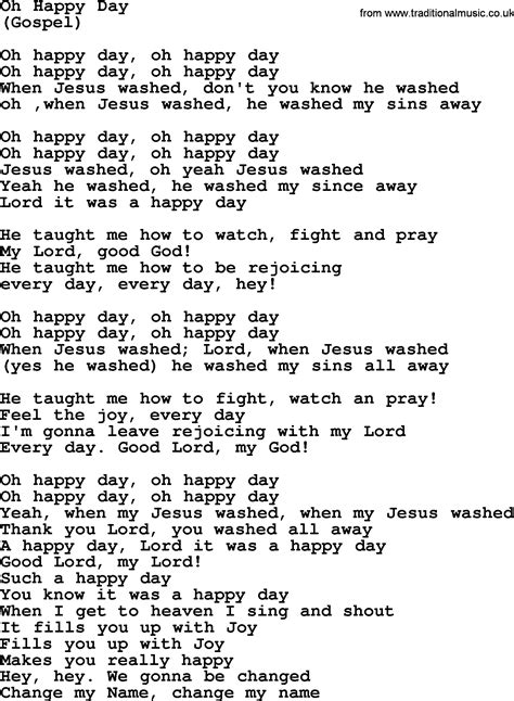 Testo Oh by Oh Happy Day By The Byrds Lyrics With Pdf