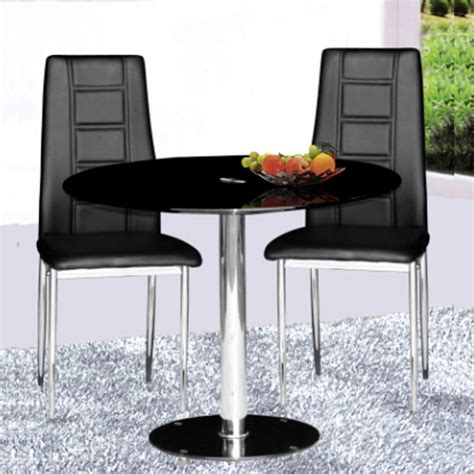 parma black glass dining table and 2 chairs