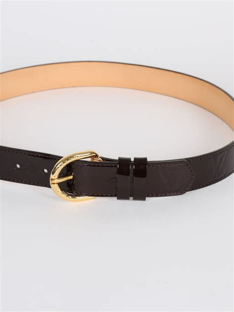 louis vuitton monogram vernis leather belt amarante