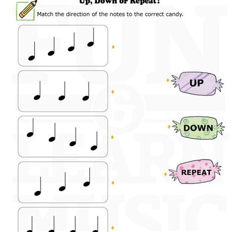 music worksheets up down repeat 003 music worksheets pinterest music repeat and note
