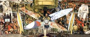 pintura mexicana hombre en la encrucijada