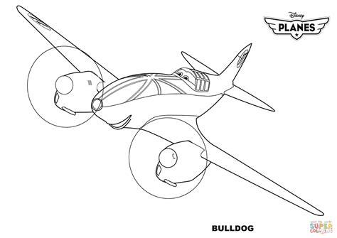 plane coloring pages disney planes bulldog coloring page free printable