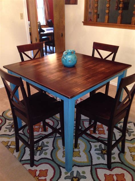 rustic pub table high top table kitchen pub table