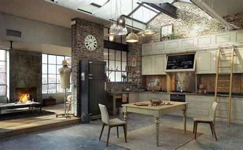 cuisine style atelier artiste 30 exemples de décoration de cuisines au style industriel
