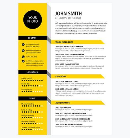 Cv Coloré Gratuit by 93 Best Design Templates Images On