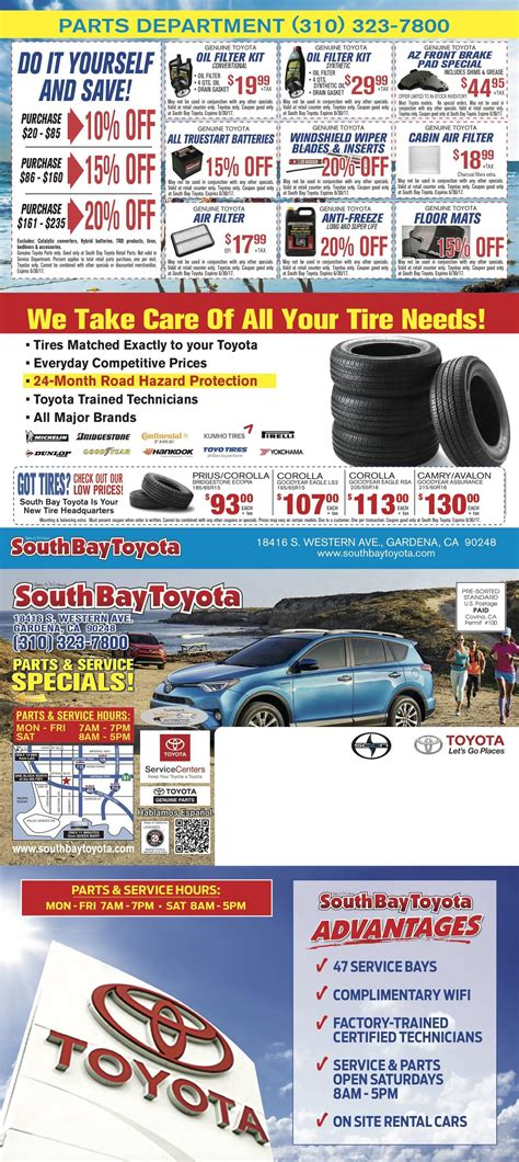 South Bay Toyota by Parts Specials South Bay Toyota