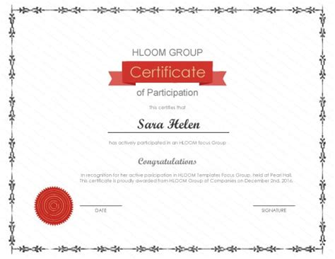 template for certificate of participation in workshop 124 free printable diy certificate templates