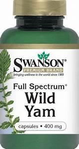 Swanson Premium Full Spectrum Wild Yam 400 mg 60 Caps  Endometriosis Wild Yam
