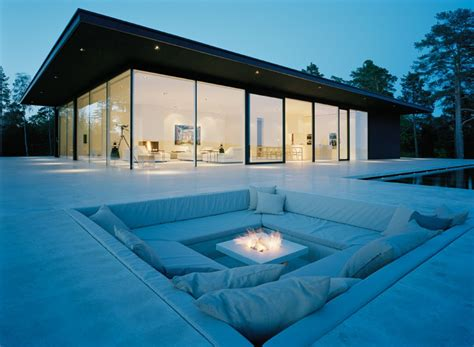 cool outdoor areas conversation pits sunken sitting areas