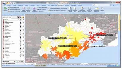 Chalandise Zone Vente Une Saisie Carte Geoconcept