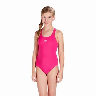 Speedo Swimsuit Pink Junior Swimwear Swimming Medalist