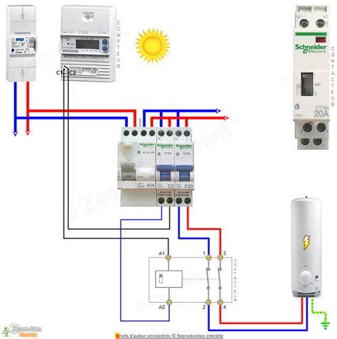 disjoncteur differentiel pour salle de bain schma contacteur jour nuit ou heures creuses pour chauffe eau et ballon d eau chaude