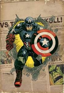 Captain America Marvel Comic Book Cover