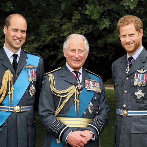 Prince Charles and His Sons Are Matching in Uniform in a ...