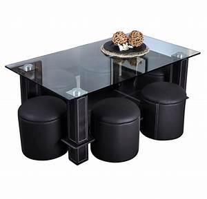 Pouf Scandinave Pas Cher : table basse ronde avec pouf table basse avec pouf ~ Teatrodelosmanantiales.com Idées de Décoration