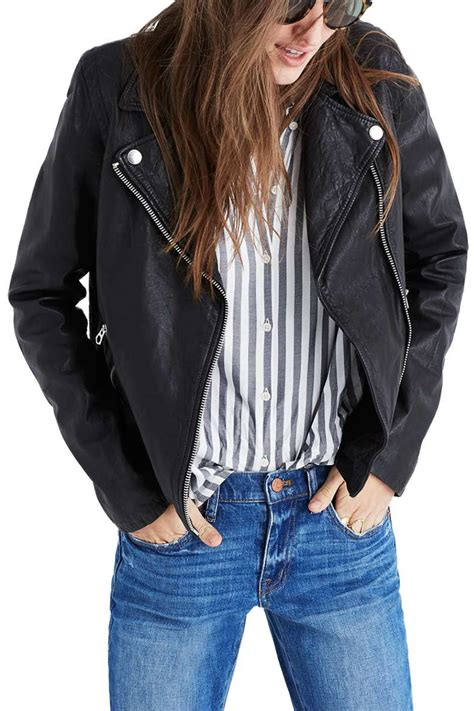 10 cute leather moto jackets for spring 2018 womens faux