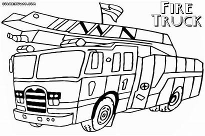 Fire Coloring Pages Truck Printable Pdf Simple
