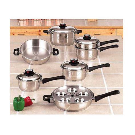 maxam  ply pc steam control waterless cookware set