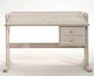 Schreibtisch Wei Verstellbar Massiv Kiefer Mbel PC Tisch