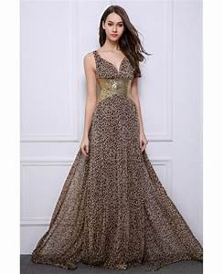 stylish sheath v neck leopard print wedding guest dresses With leopard print wedding dress