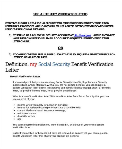 social security benefits letter 16 proof of income letters pdf doc free premium
