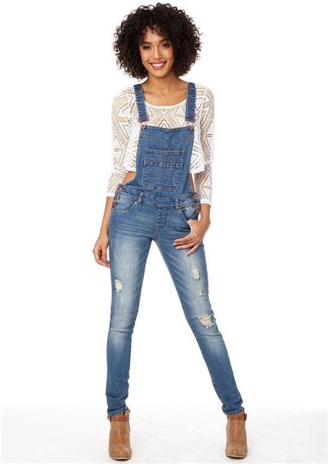 Womens Denim Overall Jeans | Bbg Clothing