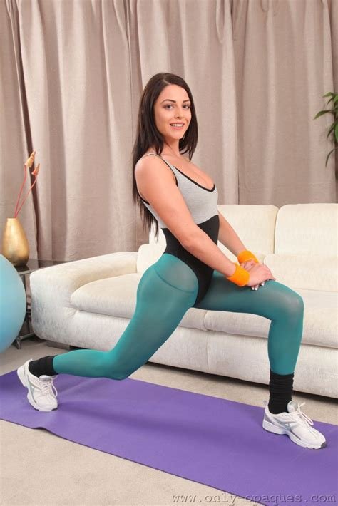Only Leotards Jayne M Aerobic Workout In A Thong Leotard