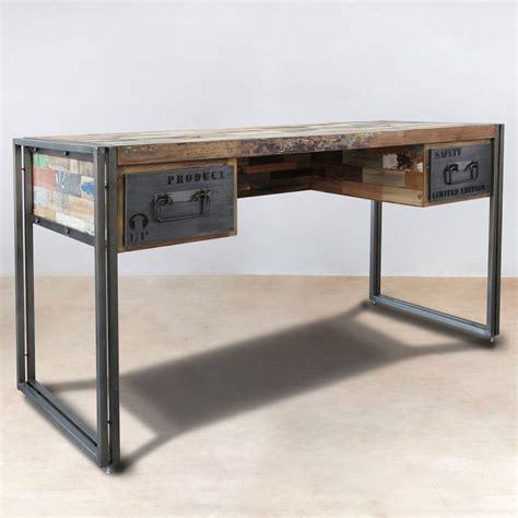 bureau bois m騁al bureau bois metal mzaol com