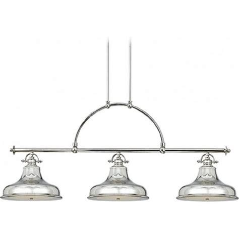 kitchen island retro bar suspension pendant with 3 silver