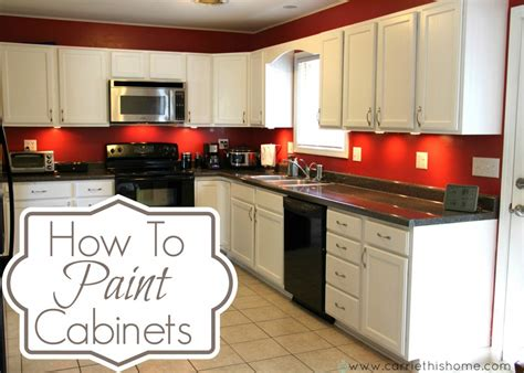 Easy Kitchen Backsplash Ideas - how to paint cabinets