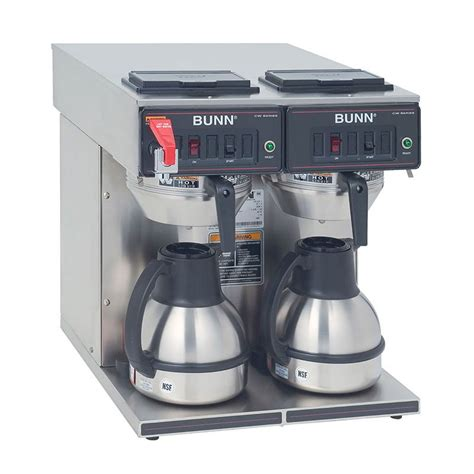 Bunn CWTF TC 0047 CWTF Twin TC Twin Thermal Carafe Coffee Brewer, S/S Funnel, Faucet (23400.0047)