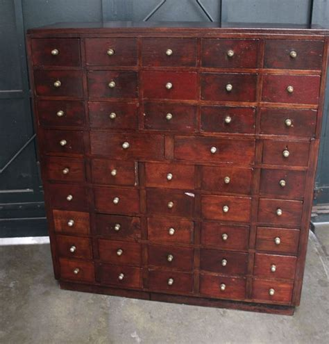 Wooden Apothecary Cabinet by Unknown Designer Wooden Apothecary Cabinet Equipped