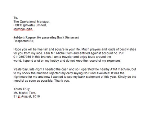 best start up business bank account bank statement request letter format top form templates