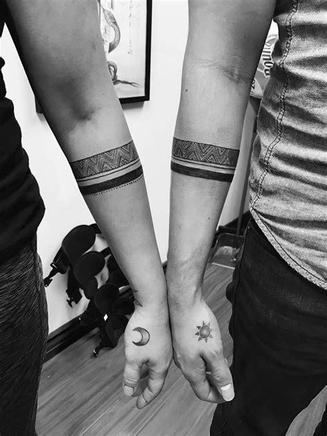 Couples armband tattoo | Band tattoo, Arm band tattoo, Forearm band tattoos