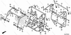 Honda Side By Side 2014 Oem Parts Diagram For Roll Bar
